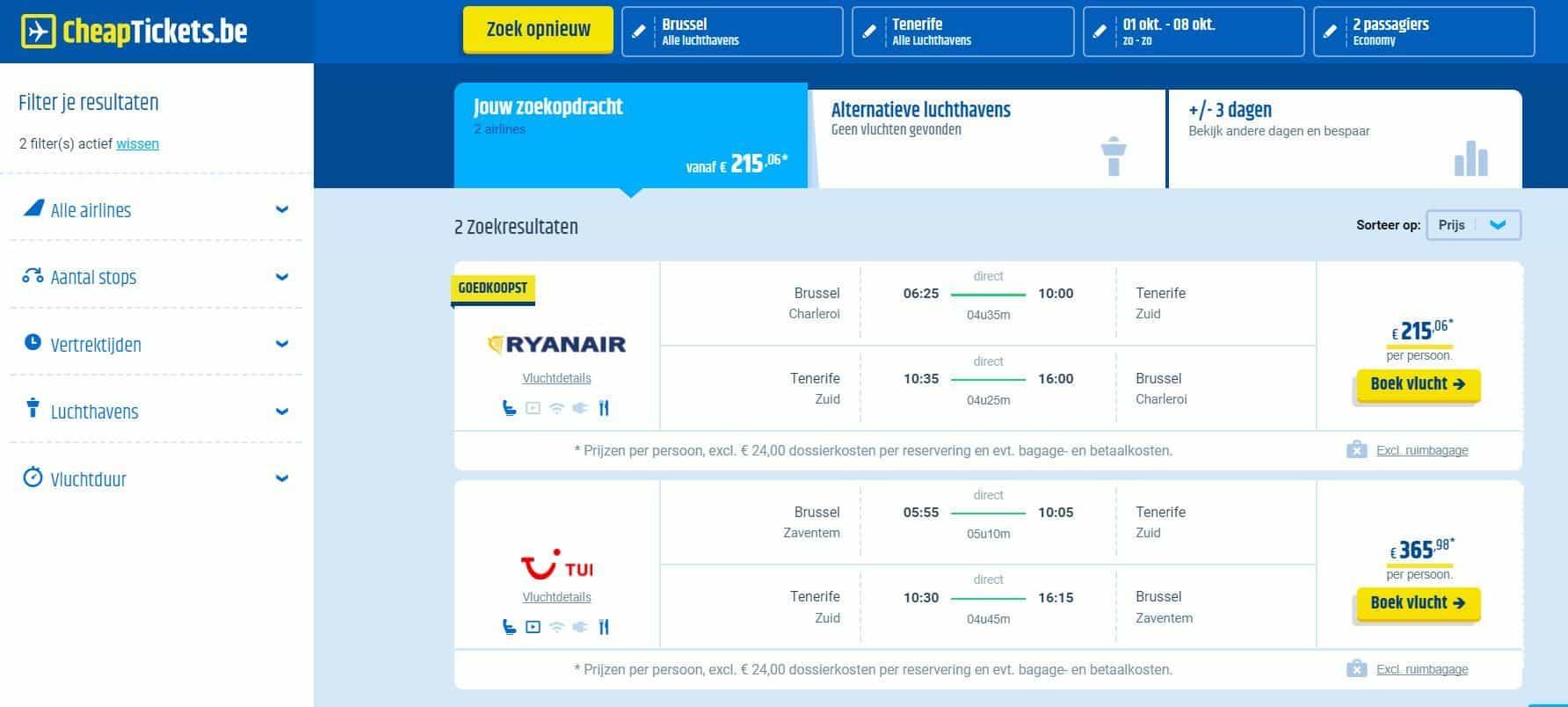 website goedkope vluchten
